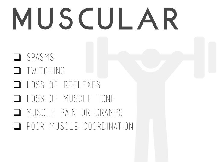 Lyme Disease - Symptoms affecting the muscles  www.lymeandthecity.org