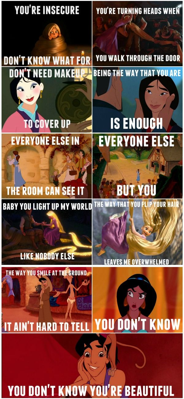 "Disney version of ""What Makes You Beautiful."" These make me smile :)"