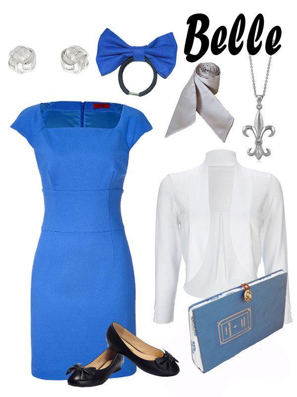 Disney Fashion: Belle (Blue Dress) by EvilMay.deviantart.com on @deviantART