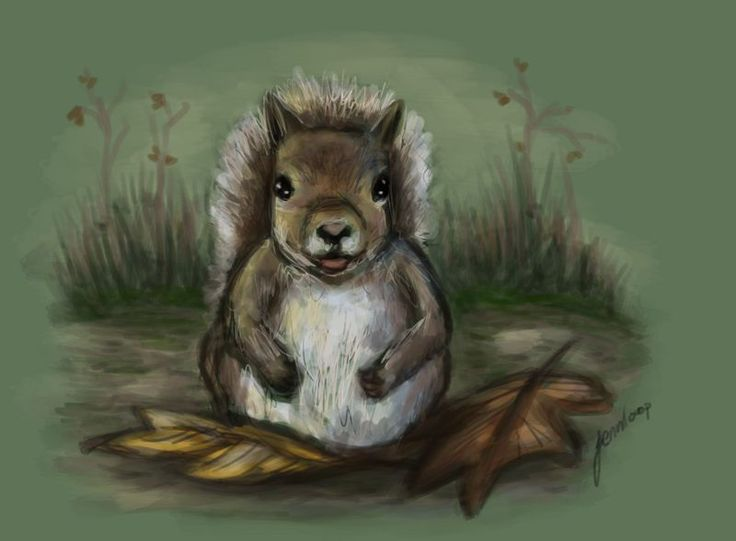 Punk autumn squirrel by Jennifer Lindroos (@tweetyloop) | Twitter
