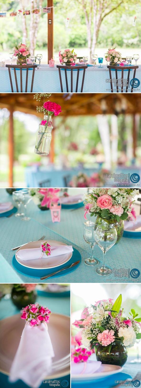 vintage pink and blue engagement party - festa de noivado rosa e azul vintage - www.lapapeteriediva.com.br