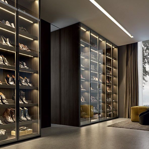 Contemporary shoe rack / glass / by Rodolfo Dordoni FITTED Poliform