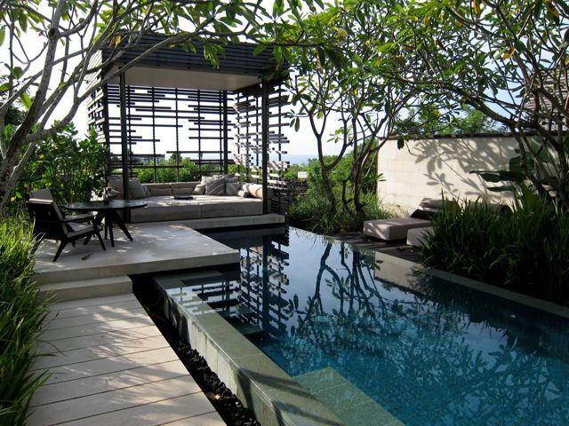Aziatische bali tuin- sfeer, privacy, uitstraling