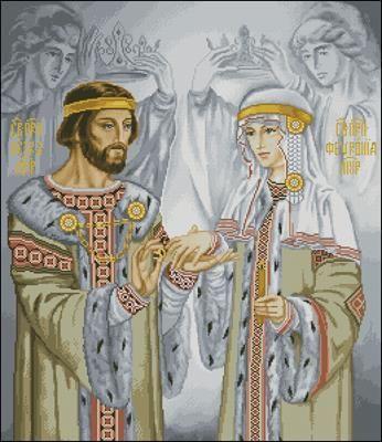 Петр И Феврония Муромские Вышивка