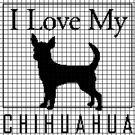 I Love My Chihuahua - Crochet Pattern (Chart/Graph AND Row-by-Row Written Instructions) - 03