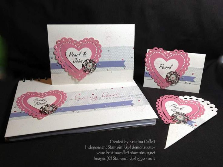 """""""More amore"""" features a laser cut heart. Includes an invitation, place card, guestbook and bonbonniere pocket (would fit sugared almonds perfectly).  Available from Paper Pineapple www.facebook.com/Paperpineapple"""