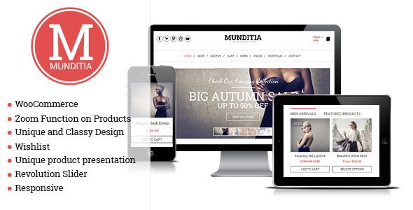 Munditia - Responsive Ecommerce Wordpress Theme