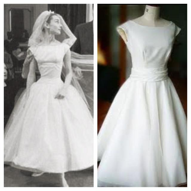 Audrey Hepburn inspired wedding dress?? Good idea megan!