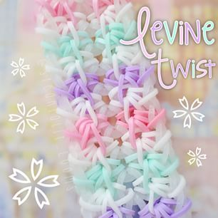 LEVINE TWIST Bracelet     (Note: Couldn't get at directions, but loved the colors of all the bracelets at this site)