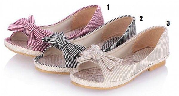 Leuke Gestreepte Sandalen Zonder Hak Maat 30-43 - Kleine maat damesschoenen laarzen pumps hakken 30 31 32 33 34 35 36 37 38 39 kleine maat schoenen