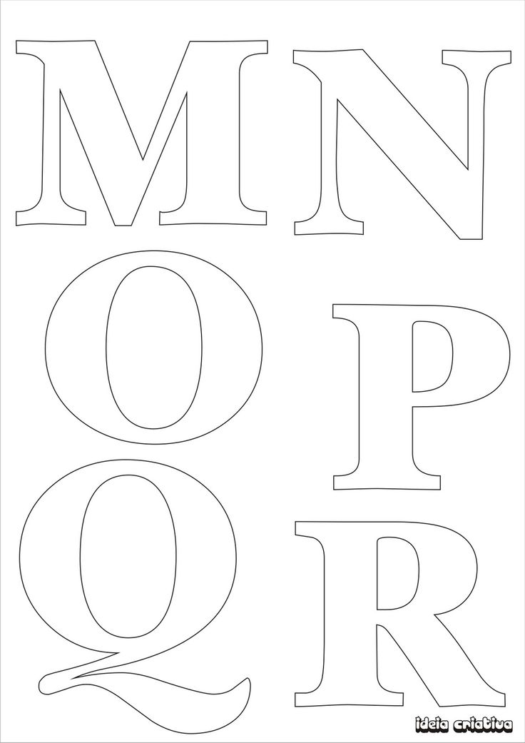 Molde de letras para imprimir alfabeto completo fonte vazada | Ideia Criativa…