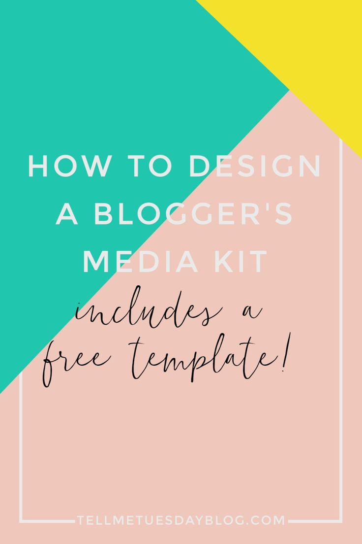 How to Design a Blogger's Media Kit