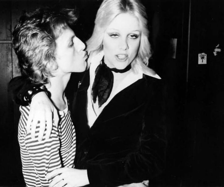 Cherie Currie with David Bowie at Rodney Bingenheimer's