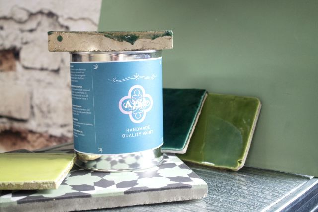 New! Azule paint. Match with Azule Tiles! www.designtegels.nl