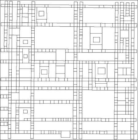 Coloriage Piet Mondrian
