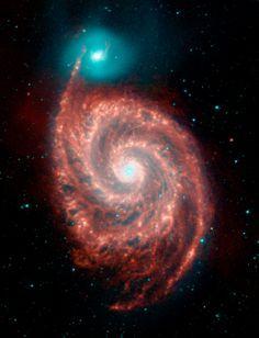 The Whirlpool Galaxy and its companion | Credit: NASA / JPL-Caltech / R. Kennicutt (Univ. of Arizona)