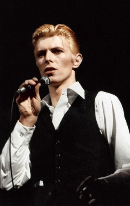 Here's David Bowie as the mid-70s 'Thin White Duke'. Has a waistcoat ever looked hotter?