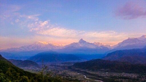 Sunrise over Annapurna, Nepal