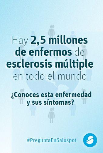 Hay 2.500.000 de enfermos de esclerosis múltiple. ¿Conoces esta enfermedad y sus síntomas? https://www.saluspot.com/preguntas/418-cuales-son-los-sintomas-de-la-esclerosis-multiple-gracias-por-adelantado #DiaMundialEM