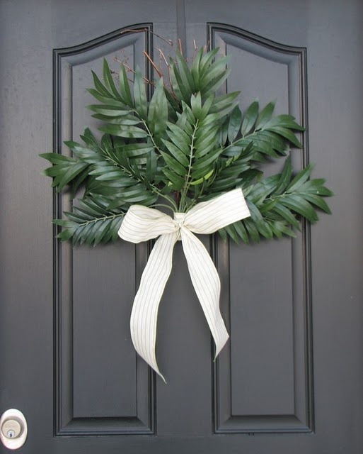 Palm Sunday front door wreath... I actually like this for anytime! very neat.