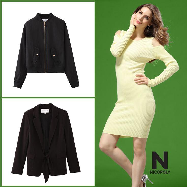 Un vestido así puede combinarse con un blazer o una bomber jacket. Elige tu estilo Nicopoly.