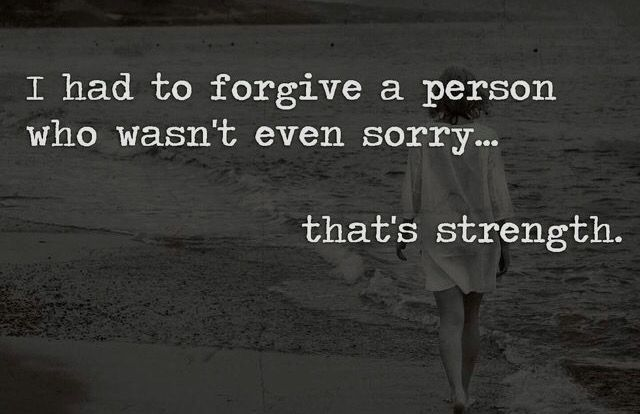 It takes great strength to forgive those who don't own up to their inflicting of pain but the reward of releasing that injustice cannot be expressed in words!