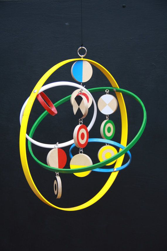 Modern Hanging Mobile for children baby by ScoutandWander on Etsy