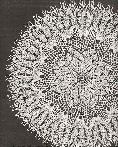 Kira knitting: Scheme knitted tablecloths 34