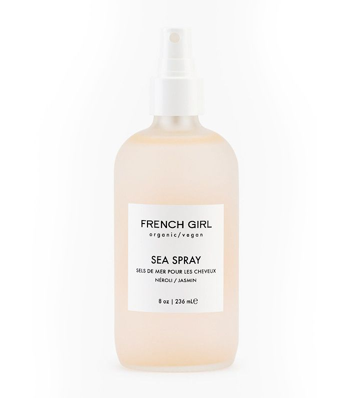 French Girl Sea Spray ($26)  Going above and beyond the usual sea salt spray, this product can be spritzed on your lengths for loose waves, on your roots for added volume, or, as the brand suggests, all over prior to placing your hair in a top knot or a braid for tighter waves. Channel the south of France while you style your hair with the scent of rose, jasmine, and neroli.