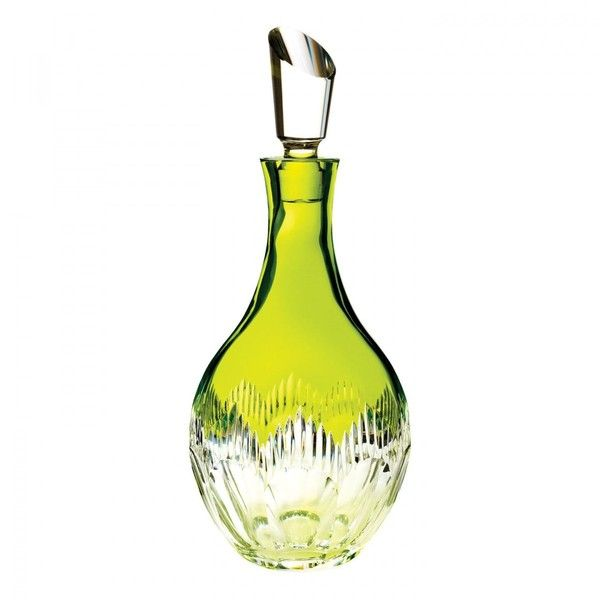 Waterford Mixology Neon Decanter Lime Green featuring polyvore home kitchen & dining bar tools waterford decanter crystal decanter crystal glass decanter waterford