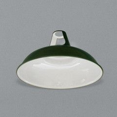 Enamel Lampshade Green - Labour and Wait