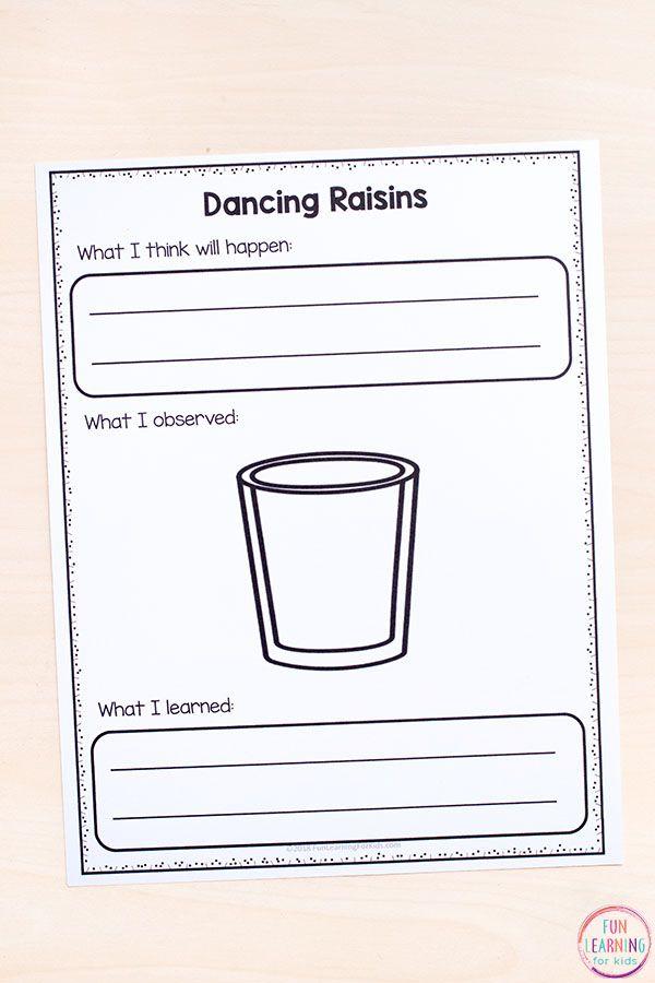 Dancing Raisins Science Experiment For Kids Dancing Raisins Science Experiments Kids Dancing Raisins Experiment