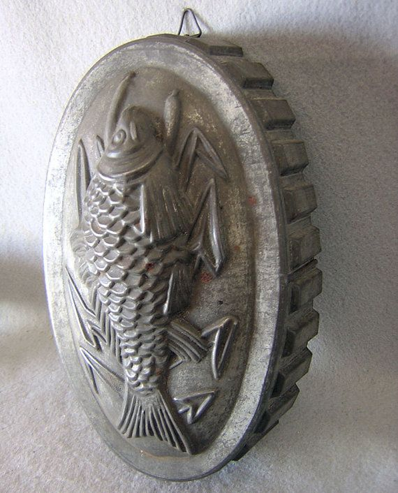 Antique Fish Tin Mold