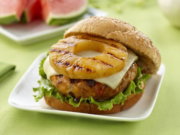 Teryaki Pineapple Turkey Burger. Was Very Tasty  But Didn't Hold Shape Well, Could Just Be My Cooking Techniques Didn't Work