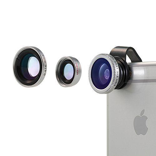 Lente para móviles,Vinsic® universal desmontable Objetivo ojo de pez de 180°+Objetivo gran angular +Objetivo macro 3-en-1 Kit de objetivos de cámara fácil de usar, especialmente para el iPhones, iPhone 6 6 Plus 5 5c 5s 4s 4 3 - http://www.tiendasmoviles.net/2016/04/lente-para-moviles%ef%bc%8cvinsic-universal-desmontable-objetivo-ojo-de-pez-de-180objetivo-gran-angular-objetivo-macro-3-en-1-kit-de-objetivos-de-camara-facil-de-usar-especialmente-para-2/