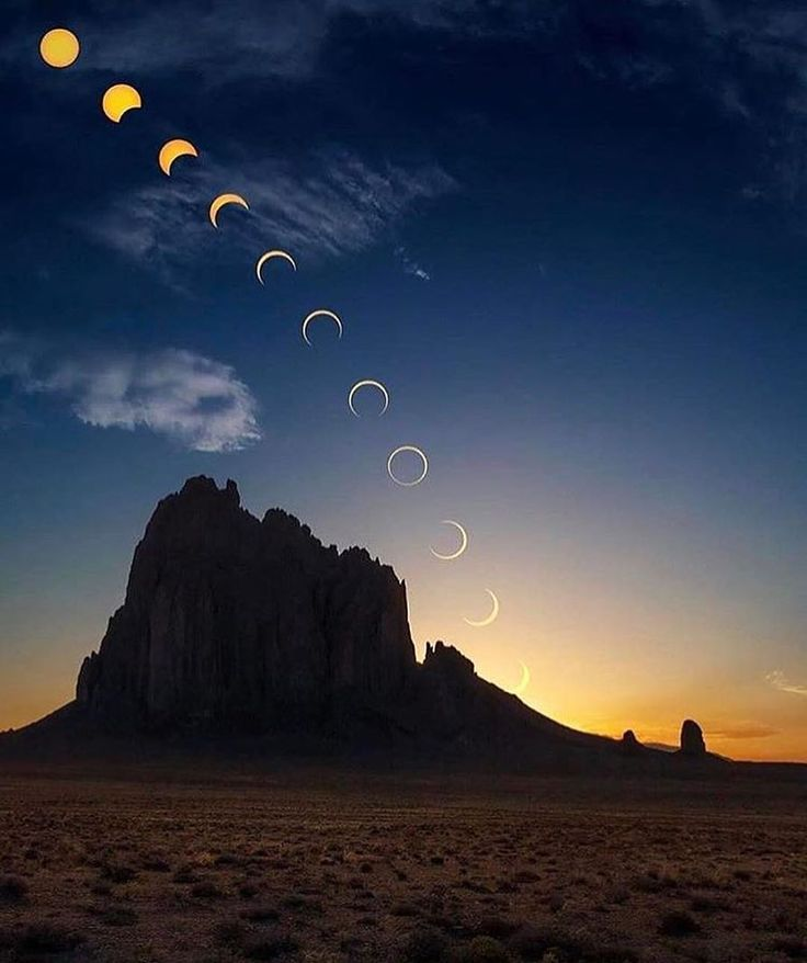 Cycle of The Moon, New Mexico Photo by @dr_brown  #fantastic_earth