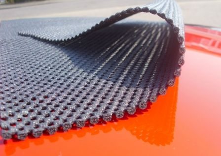 This is the soft non slip matting boot-bag sits on its 4mm thick and stops any paint damage we have sold over 5000 bags with no reports of any paint damage ever