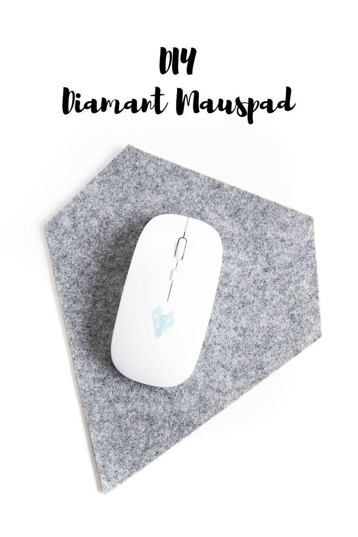 DIY Diamant Mauspad aus Filzrest basteln