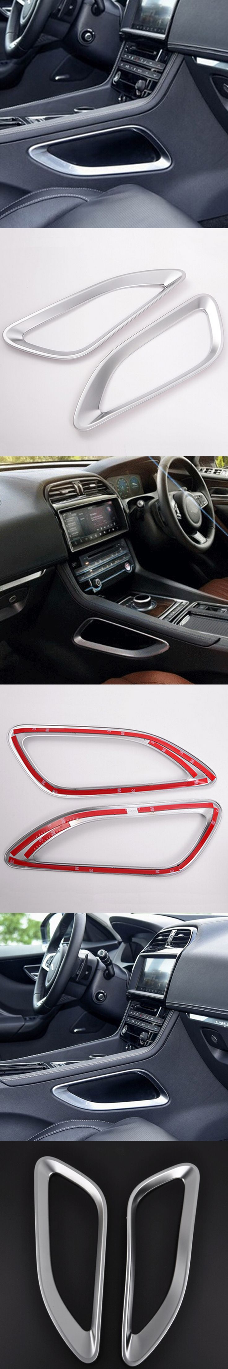 interior Accessories for jaguar f pace f-pace side console gear panel frame storage box decorative trim covers stickers