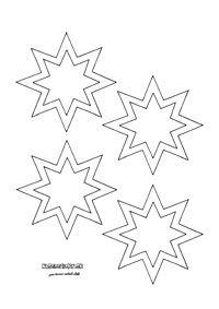 Hviezdička - vystrihovačka na okno