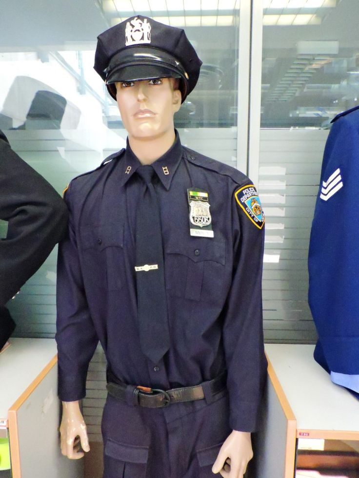 Museo Policía de Madrid - Uniforme de la Policía Municipal de Newark (EEUU).