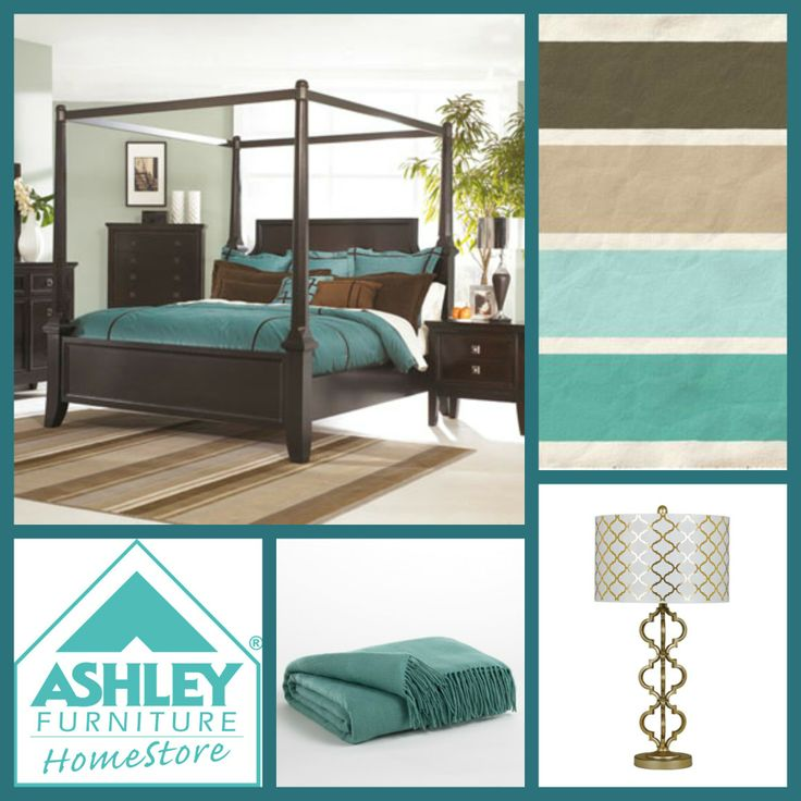 Download Bedroom Ashley Furniture Store Bedroom Sets With: Take Teal To A Whole New Level By Adding Soft Browns And