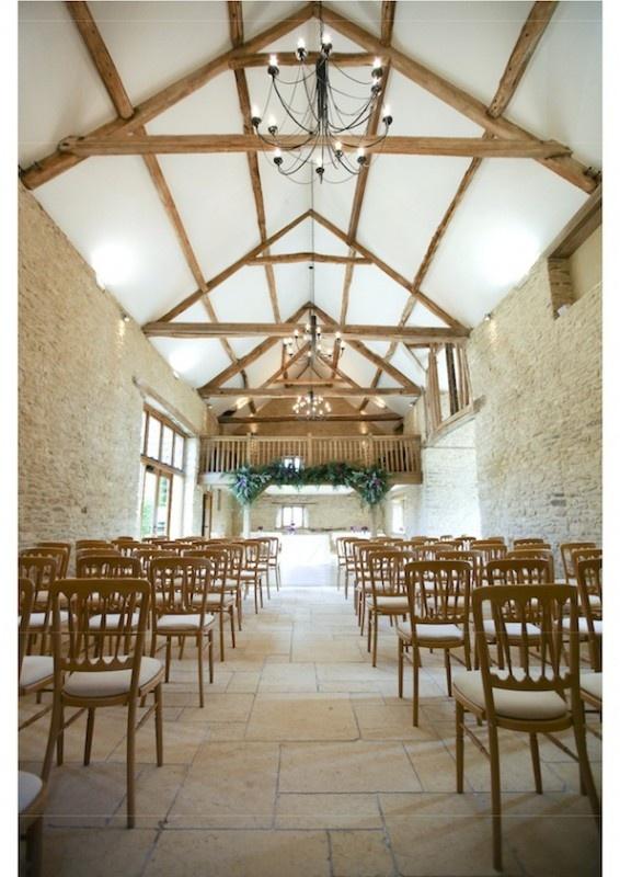 kingscote barn image of the color inside