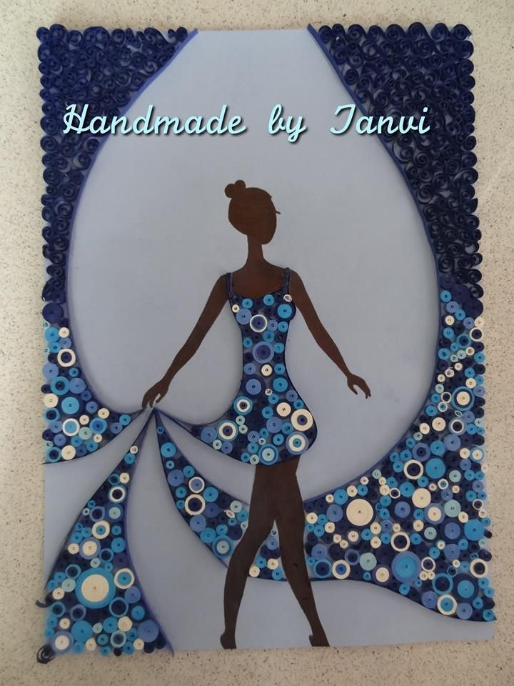 Lady quilled