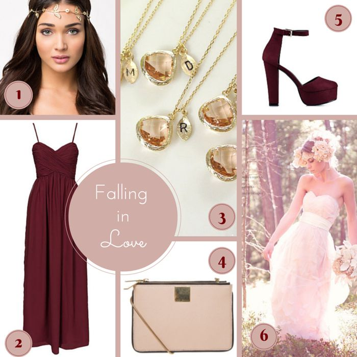 Falling in love: Blush and Bordeaux