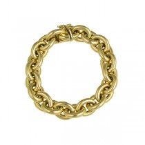 1589A Gouden jasseron schakel armband