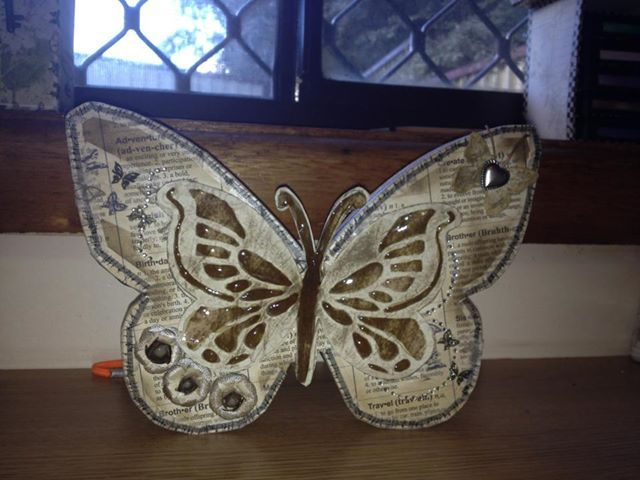 Decorated Wooden Butterfly.