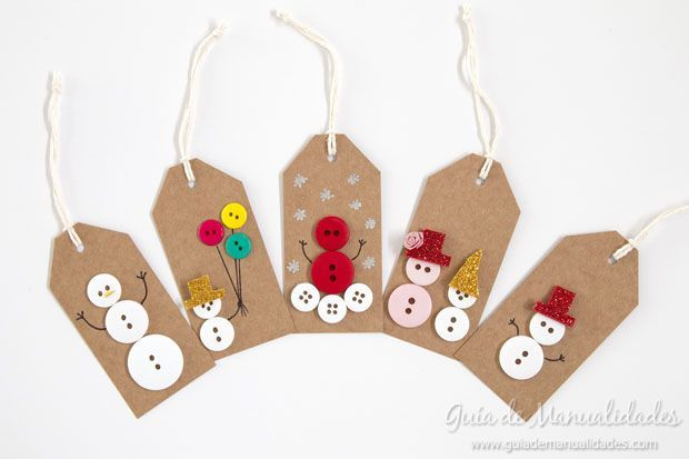 5 Ideas for Christmas tags with buttons We continue preparing to enjoy Christmas is approaching and as such the Christmas crafts are the order of the day