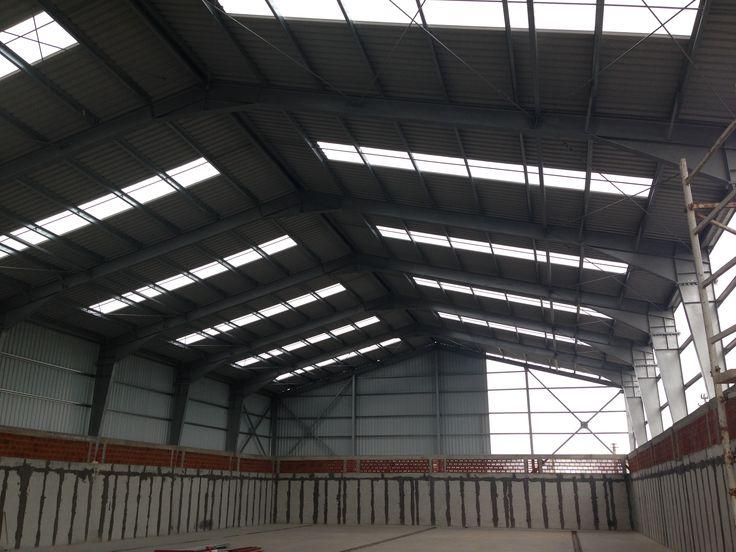 Metallic Hall for Grain Warehouse Sacalaz - Steel Structures Buildings - Duna-steel.ro