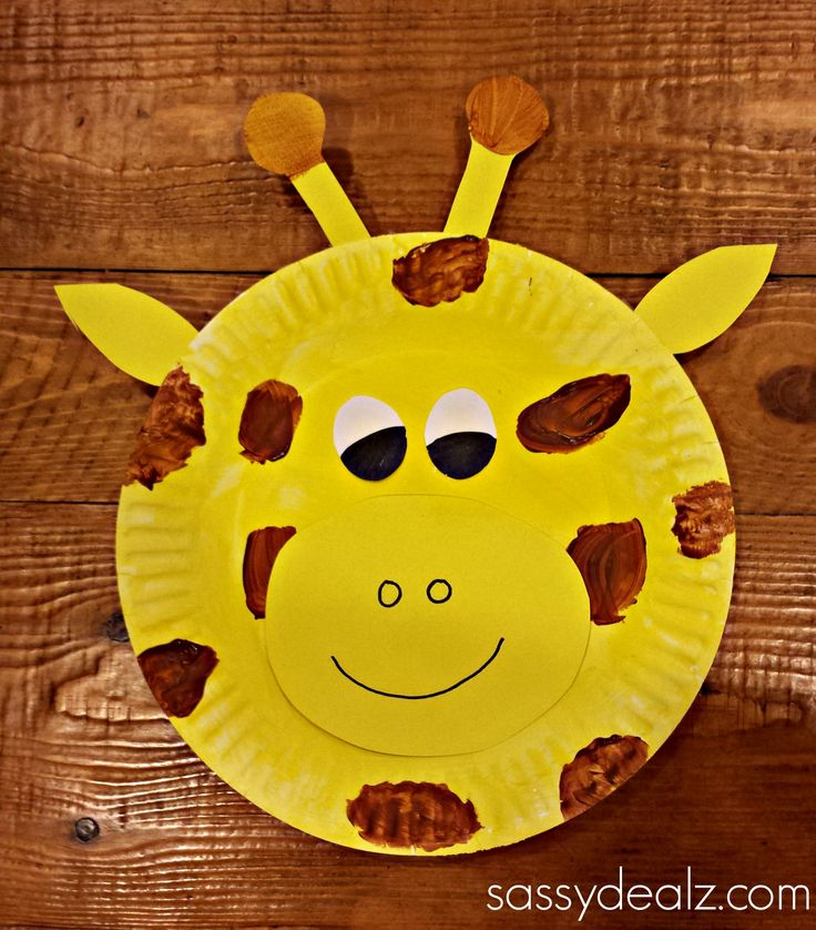 giraffe made from paper plate | Glue them on the paper plate and then you have an adorable giraffe ...